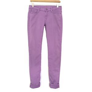7 For All Mankind Violet Sky Ankle Skinny Jeans
